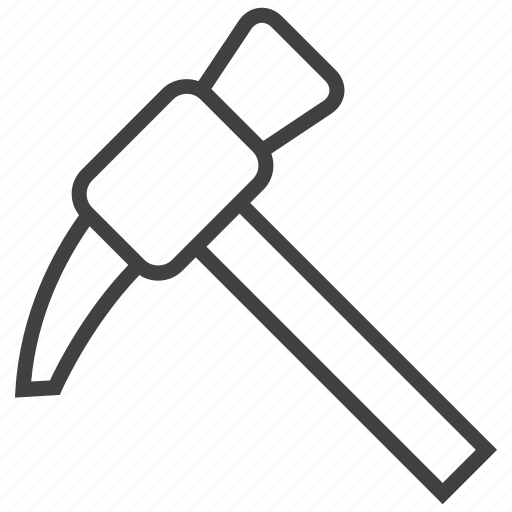 mattock, mining, tools icon