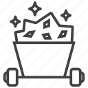 mine, mining, ore, wagon icon