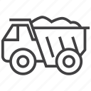 construction, monster, truck icon
