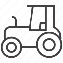 agriculture, farming, tractor, vehicle icon