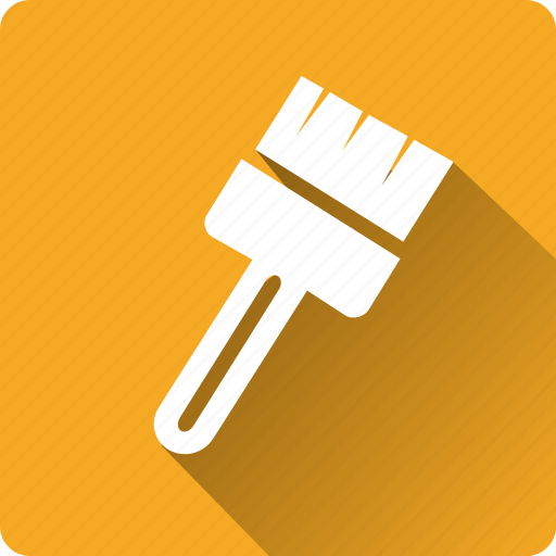 brush, building, construction, installation, mounting, tool icon