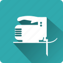 building, construction, fretsaw, installation, mounting, tool icon