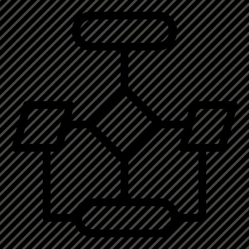 flow chart, plan, workflow icon