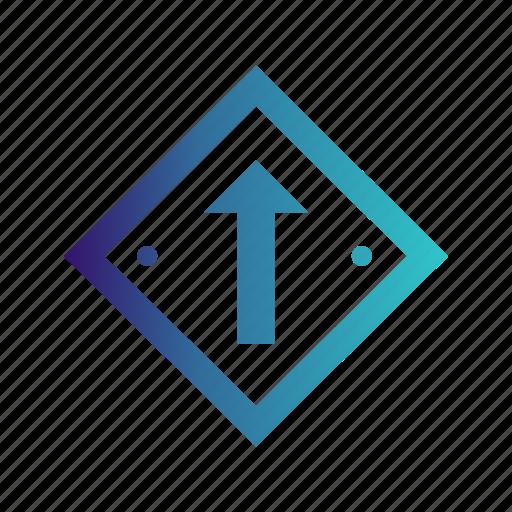 arrow, forward, up icon