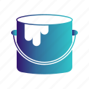 box, bucket, craft, pain, paint icon