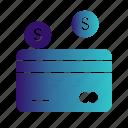 atm, card, credit, debit, dollar icon