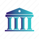 bank, banker, building, money icon