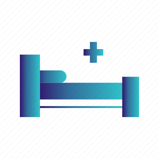 bed, hospital, medical, sign icon
