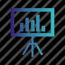 board, meeting, presentation, white icon