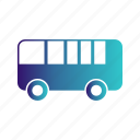 bus, school, transport, travel icon