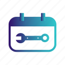 calendar, event, month, wrench icon