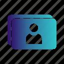 card, id, visting icon