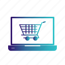 cargo, cart, laptop, mobile, online, shopping, trolley icon