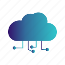 cloud, server, setting icon