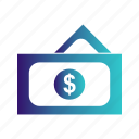 currency, dollar, dollars, money, note, notes icon
