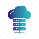 cloud, data, server icon