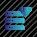 cloud, diamond, server icon