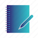 document, list, pen, report, sheet, write, wtitten icon