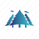 forest, jungle, tress icon