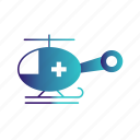 amublance, helicopter, transport icon