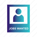 find, jobs, looking, wanted icon
