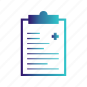 document, medical, report icon