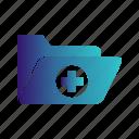 folder, medical icon