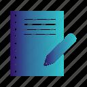 document, report, write, written icon