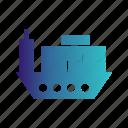 boat, ship, shipping, transport icon