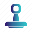 stamp, valid icon