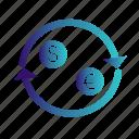 dollar, euro, exchange, money, transfer icon