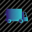 transport, transportation, travel, truck, van icon