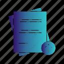 document, report, upload icon