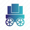 transport, transportation, travel, wagon icon