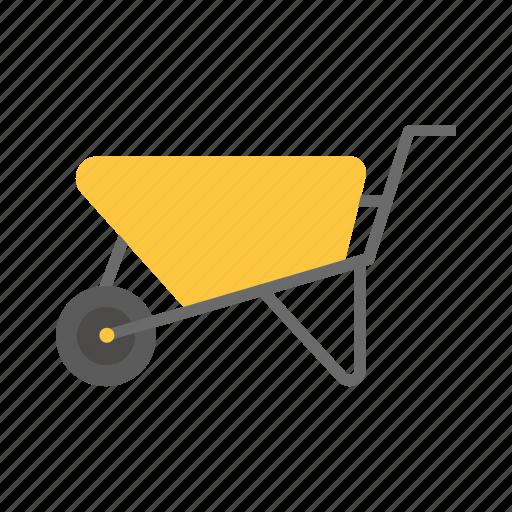 building, construction, repair, tool, wheelbarrow icon