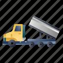 construction, dump, dumper, machinery, truck, vehicle