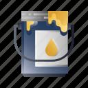 bucket, color, decoration, improvement, paint, renovation icon