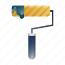 brush, interior, paint, painting, renovation, roller, tool icon