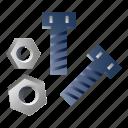 bolt, bolts, construction, rivet, screw, screws icon