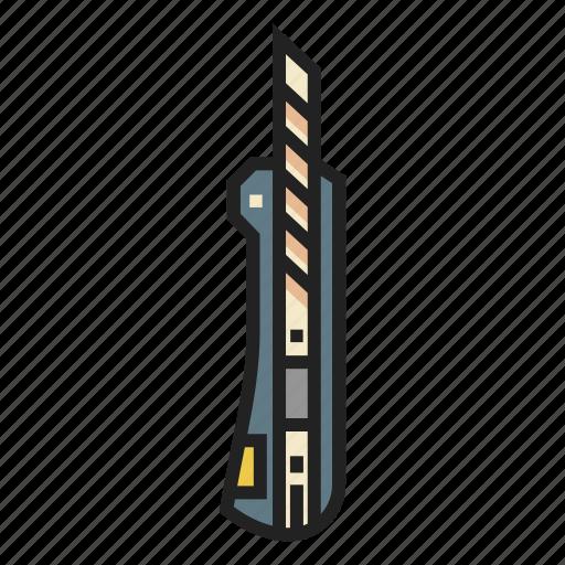 cut, cutter, knife, razor, sharp, stationery, tool icon