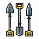 construction, digging, farm, gardening, shovel, spade icon