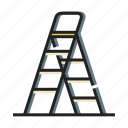climb, construction, equipment, household, ladder, maintenance, stepladder icon