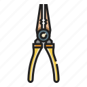 clipping, cut, hardware, pincers, pliers, repair, wire icon