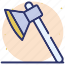 axe, cutting equipment, cutting tool, forest tool, wood cutting icon