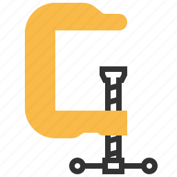 clamp, construction, equipment, tool icon