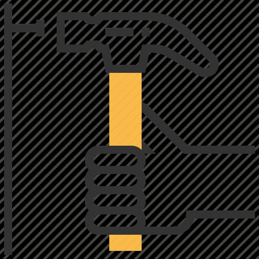 building, construction, equipment, hammer, repair icon