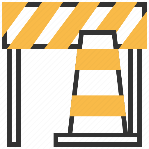 cone, construction, road, sign, traffic icon