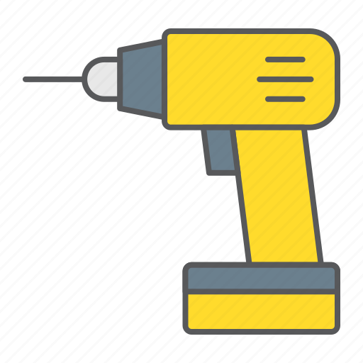 Electric, drill, tool, repair, construction, drilling icon - Download on Iconfinder