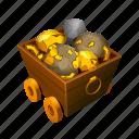 car, cave, diamond, gold, mine, tool icon