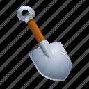 cave, dig, farm, plant, shovel, tool icon